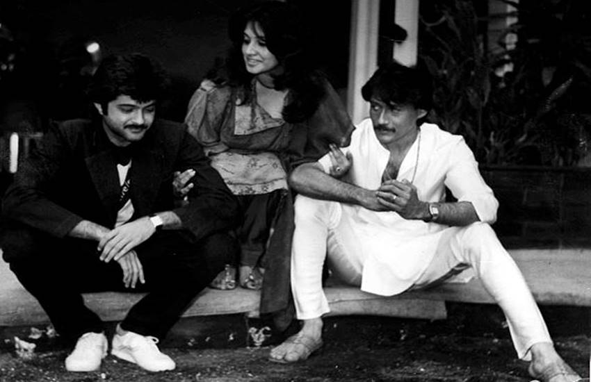 Anil Kapoor, Moon Moon Sen and Jackie Shroff in film ANDAR BAAHAR